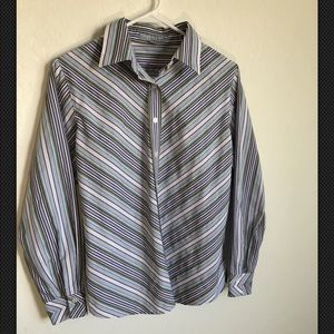 Foxcroft Shaped Fit, Longsleeve, Button Up Top, 8P